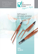 BiPOstyle II ROUND HANDLE Non-stick Forceps